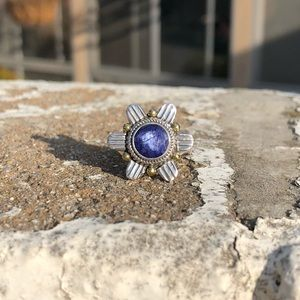 Jewelry - Sapphire Indian Sterling Silver Ring Sz 8